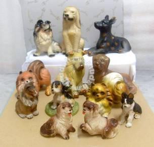 LOT 12 Dog Miniatures (Vintage 1980s)