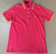 Fred perry star red pink japan shirt Original