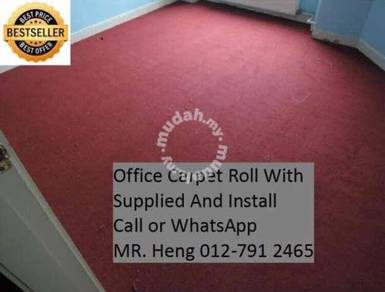 Natural Office Carpet Roll with install g54h849