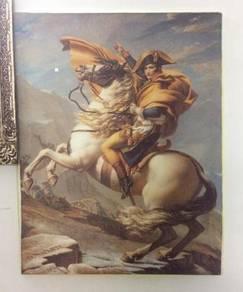 Crossing The Alps Napoleon Printed on Silk Fabric