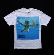Rare vintage nirvana nevermind album cover t-shirt