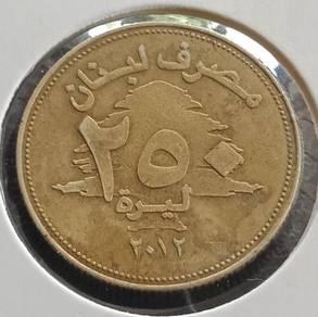 Banque Du Liban 250 Livres 2012