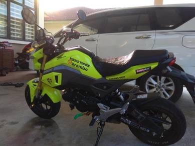 Honda MSX 125 kuning meletop