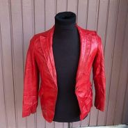Authentic Preloved Icino Red Leather Jacket Rare