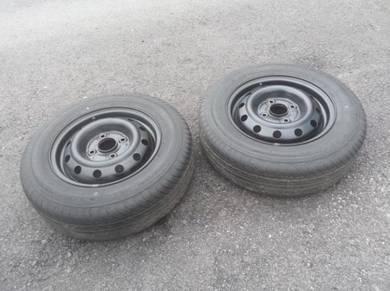 Steel RIM Besi 14 Kompang JAPAN Tyre 114