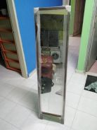 Solid wood stand mirror
