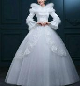 Pre order long sleeves wedding gown