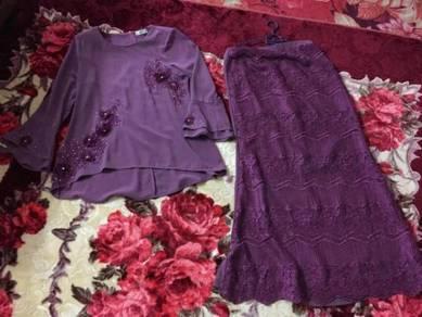 Kurung moden lace sara anne size 40 free pos