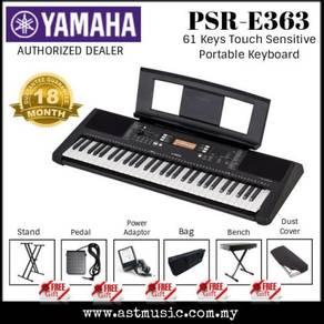 Yamaha PSR-E453 61 key touch response keyboard