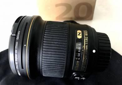 Nikon 20mm f/1.8G ED AF-S Auto Focus Nikkor Lens