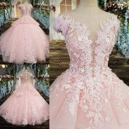 Pink prom wedding bridal dress gown RB0936