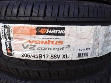 205/45/17 Hankook V2 H457 Tyre Tayar