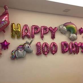 Happy 100 Days Foil Balloon