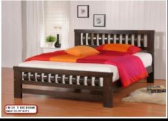Queen size wooden bed frame (CMF-321)23/07
