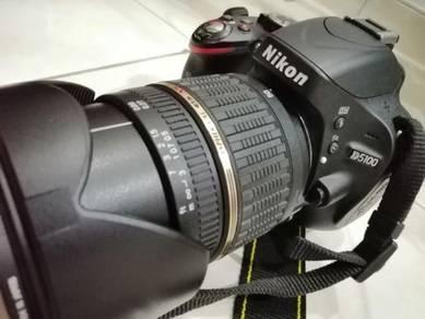 Nikon DSLR D5100 + Tamron Lense 18-50mm F2.8