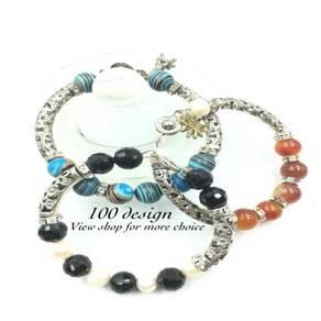 Pandora Bracelet With Original Pearl and Gemstones