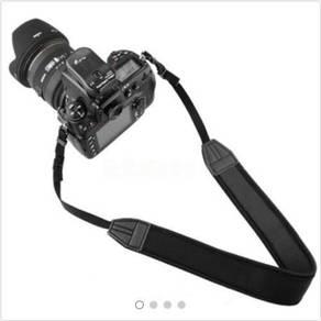 Black Adjustable Neoprene Camera Neck Strap