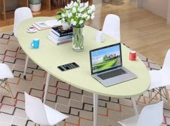 Oval Steel Legs Discussion Table