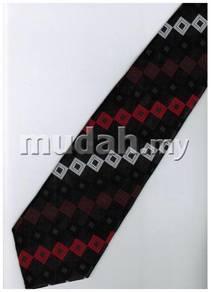 ER17 Red Black White box Striped Formal Neck Tie