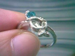 ABRSM-D038 Silver Metal Cute Lovely Dolphin Ring