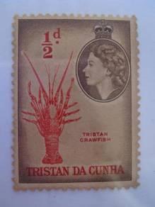 1954 TRISTAN DA CUNHA, QE II 1/2 d Stamp - MLH
