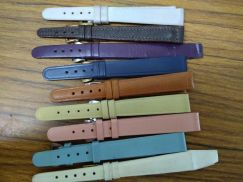 Vintage swiss made lady leather strap colored nos