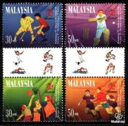 Mint Stamp Commonwealth Games Malaysia 1997