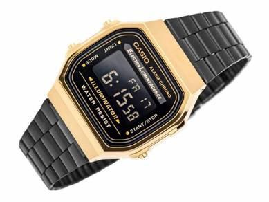 Watch - Casio A168WEGB BLACK GOLD-ORIGINAL