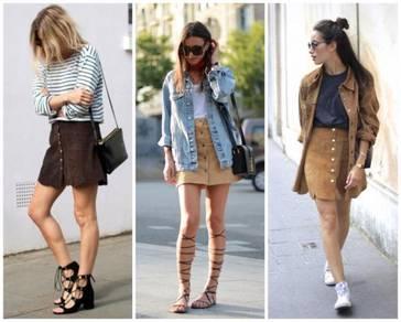 Brown Color Denim Skirt