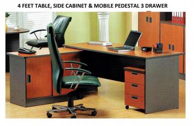 Home/Office Table Cabinet Mobile 3 Drawer sets