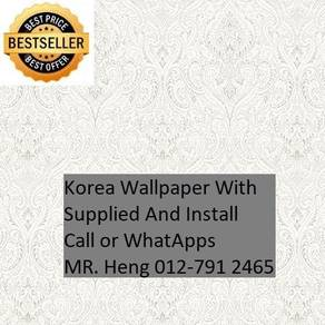 Classic Wall paper with installation lkjy5