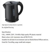 High Speed Cordless Electric Jug Kettle