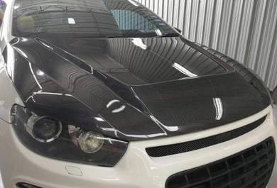 Volkswagen scirocco cf bonnet carbon hood bodykit