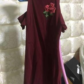 Red maroon dress