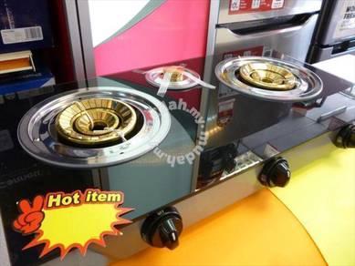 0% gst * New 3 burner Glass Gas COOKER GK-3b