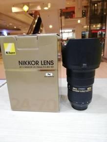 Nikon af-s 24-70mm f2.8g ed n lens - 98% new