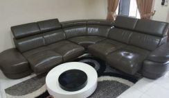 Half-leather L-shape sofa