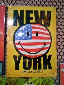 Tin sign besi New York