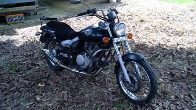 Motosikal Modenas Jaguh sedia untuk dilepaskan.