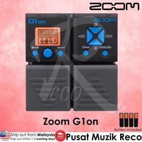 New Zoom G1on Guitar Multi Effects Pedal wi Rhythm