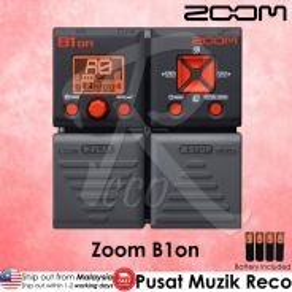 New Zoom B1on Bass Guitar Multi Effects W Looper