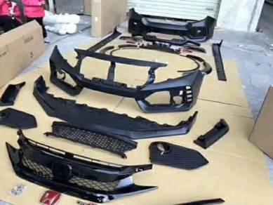 Honda civic fc type r bodykit grill bumper grille