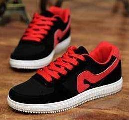0244 Black Trendy Sneakers Smart Men Casual Shoes