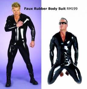 Faux Rubber Body Suit