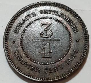 FANTASY STRAITS SETTLEMENT 3/4cent 1899