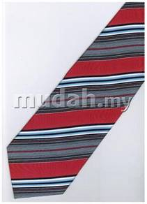 ER22 Red Blue Black White Striped Formal Neck Tie