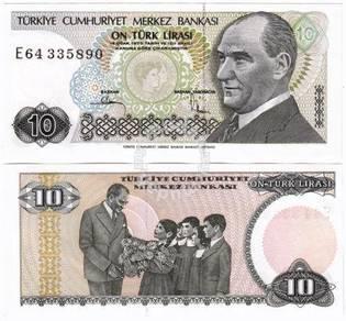 Turkey 10 lira 1970 (1982) unc