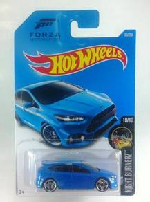 Hotwheels Nightburnerz '16 Ford Focus RS #10 Blue