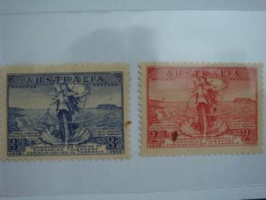 1936 AUSTRALIA 2d & 3d Stamps - MLH