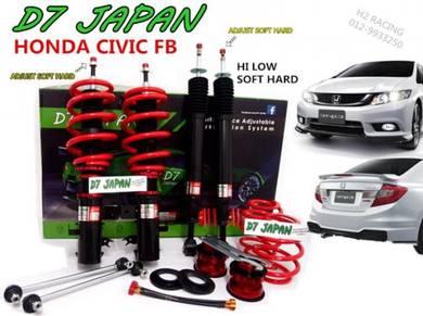 D7 Civic FB Hi Low Soft Hard Adjustable 3Step TRO
